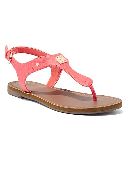 Hardware-Accent Thong Sandal - New York & Company