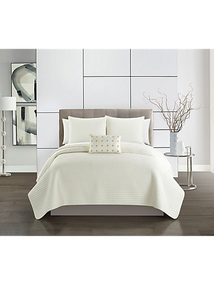 Hayden Queen-Size 4-Piece Quilt Set - NY&C x Chic Home - New York & Company