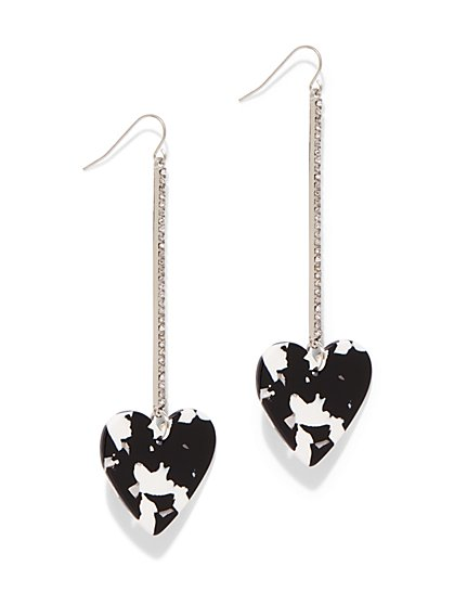 Heart Linear Drop Earring - New York & Company