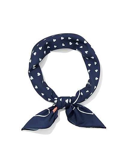 Heart-Print Scarf - Eva Mendes Collection - New York & Company