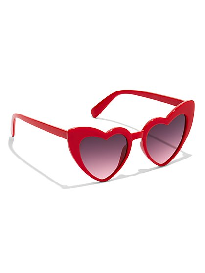 Heart-Shaped Sunglasses - New York & Company