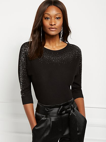 Heatset Dolman Sweater - 7th Avenue - New York & Company