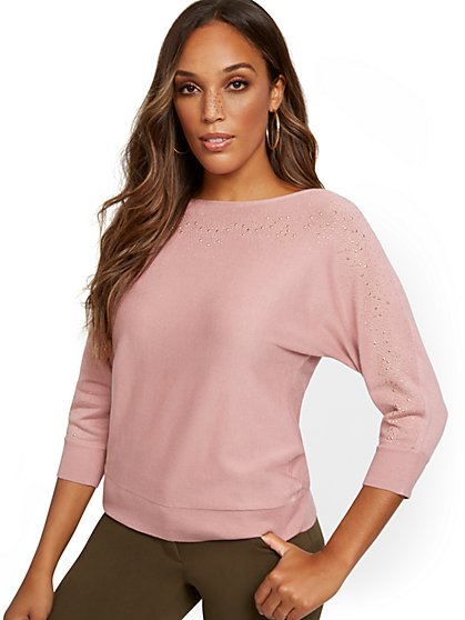 Heatset Dolman Sweater - New York & Company