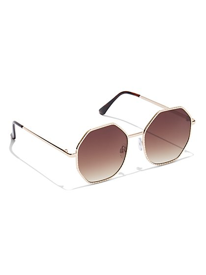 Hexagonal Sunglasses - New York & Company