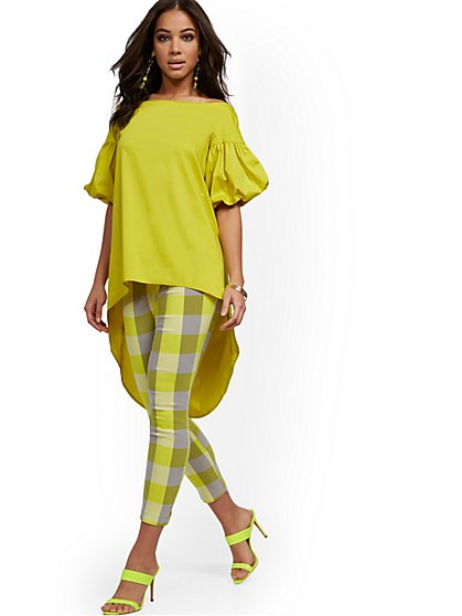 Hi-Lo Poplin Tunic Shirt - New York & Company