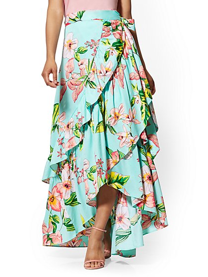 Hi-Lo Ruffle Skirt - New York & Company