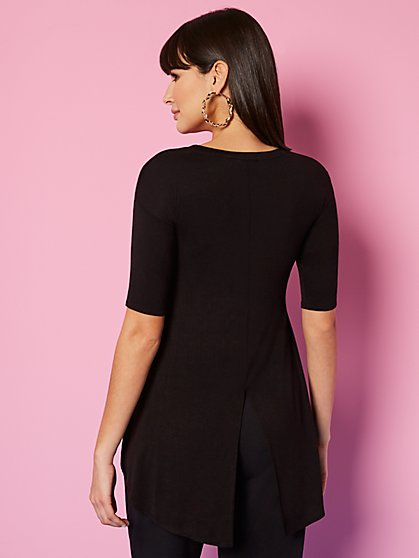 Hi-Lo Splitback Top - Sweet Pea - New York & Company