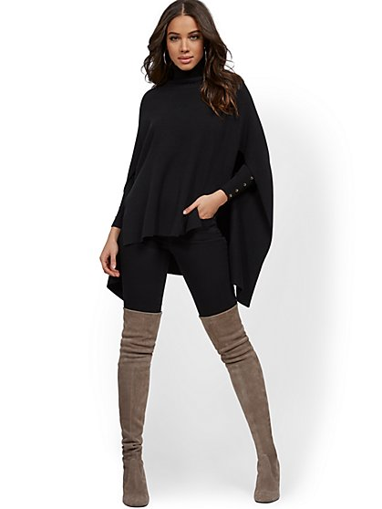 Hi-Lo Sweater Poncho - New York & Company
