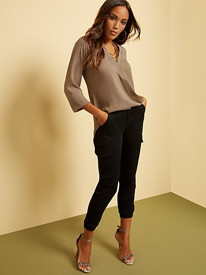 Hi-Lo Wrap Blouse - New York & Company