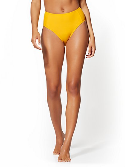 High-Waist Bikini Bottom - NY&C Swimwear - New York & Company