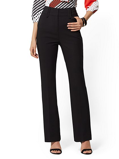 High-Waist Bootcut Pant - All Season Stretch - 7th Avenue - New York & Company