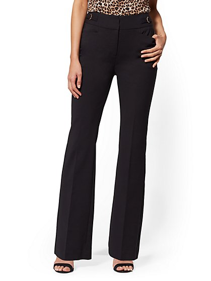 High-Waist Bootcut Pant - All-Season Stretch - 7th Avenue - New York & Company