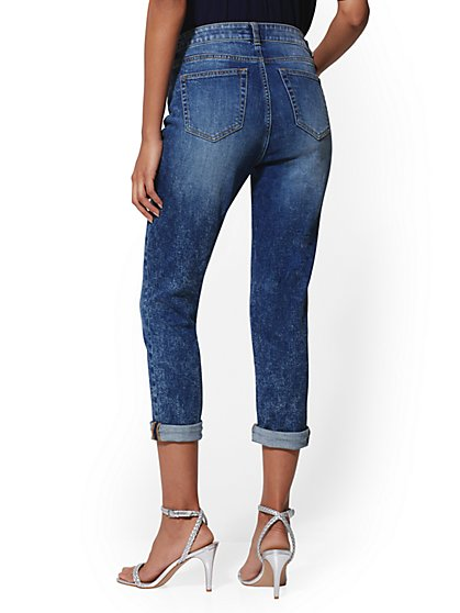 e00d7ddc781 ... High-Waist Boyfriend Crop - Blue Kay - Soho Jeans - New York & Company