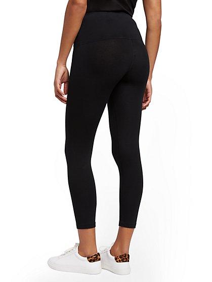 303ab8dbb6 ... High-Waist Crop Black Yoga Legging - Soho Street - New York & Company