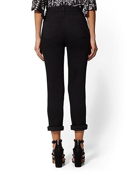 69fba0a3d86 ... High-Waist Crop Boyfriend Jeans - Black - Soho Jeans - New York    Company