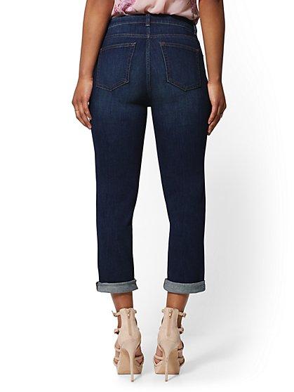 1f4dde809b32 ... High-Waist Crop Boyfriend Jeans - Foxy Blue - Soho Jeans - New York