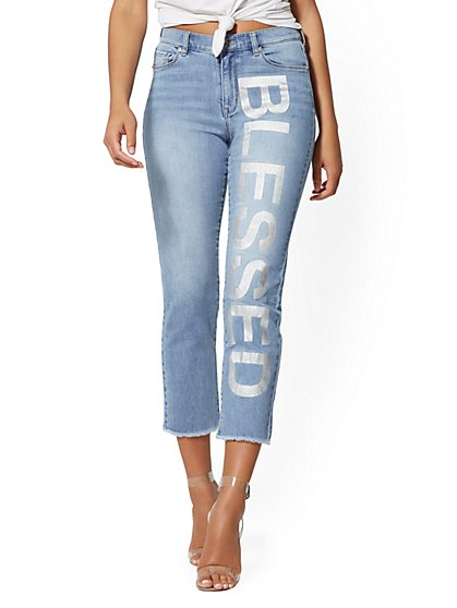 High-Waist Crop Straight Leg - Soho Jeans - New York & Company