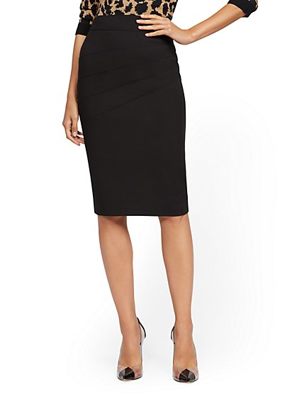 High-Waist Pencil Skirt - All-Season Stretch - 7th Avenue - New York & Company
