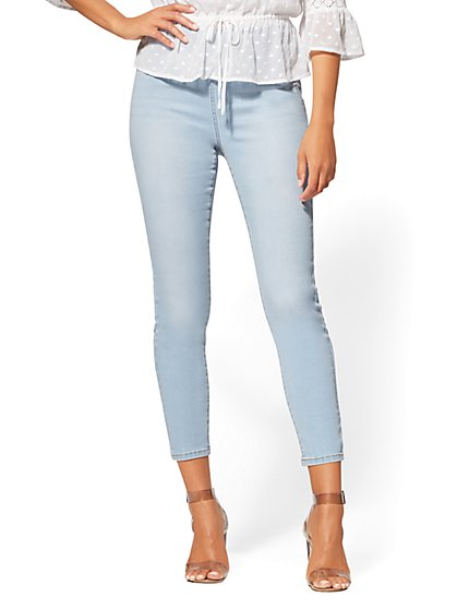 High-Waist Pull-On Ankle Legging - Blue Supreme - NY&C Runway - Soho Jeans - New York & Company