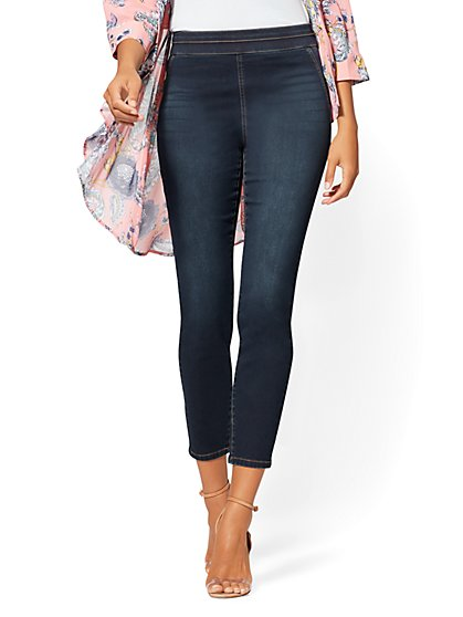 High-Waist Pull-On Ankle Legging - Rinse - NY&C Runway - Soho Jeans - New York & Company