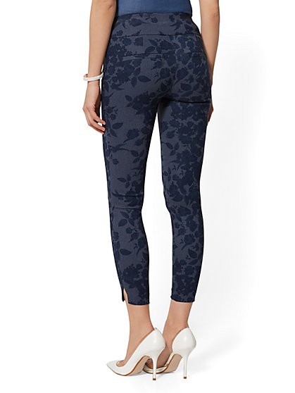 359a0b6c667acc ... High-Waist Pull-On Ankle Pant - Navy - New York & Company ...