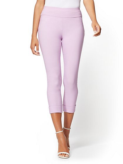 High-Waist Pull-On Crop Pant - New York & Company