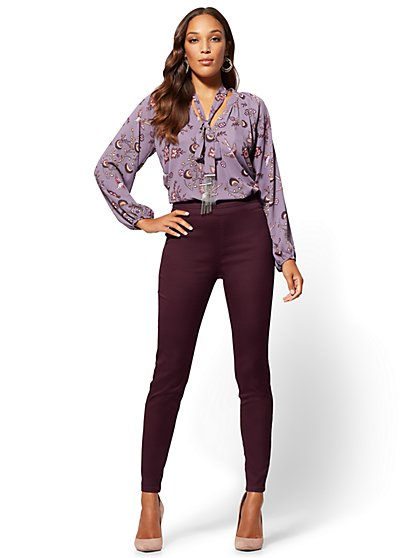 High-Waist Pull-On Legging- Soho Jeans - New York & Company