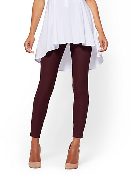 High-Waist Pull-On Slim Leg Pant - 7th Avenue - New York & Company