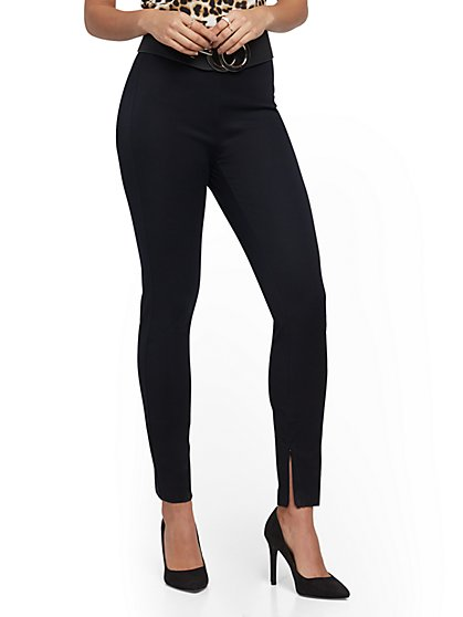 High-Waist Super-Slim Pant - Black - New York & Company
