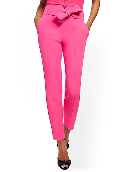 High-Waisted Ankle Pant - Zip Accent - 7th Avenue - New York & Company