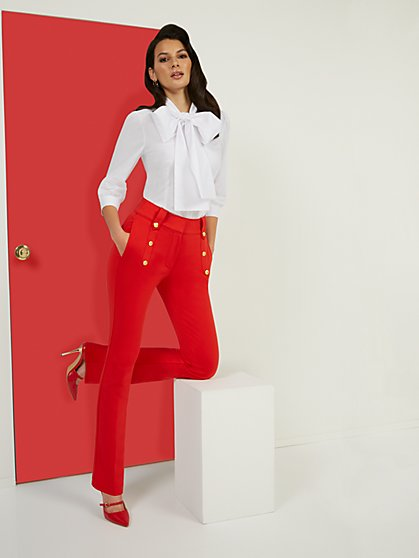 High-Waisted Barely Bootcut Pant - Superflex - New York & Company