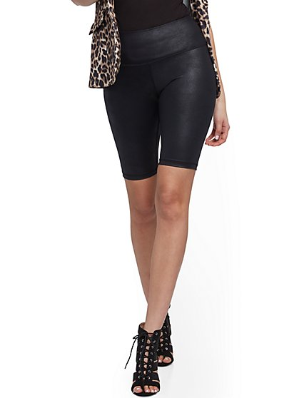 High-Waisted Bike Short - Black - New York & Company