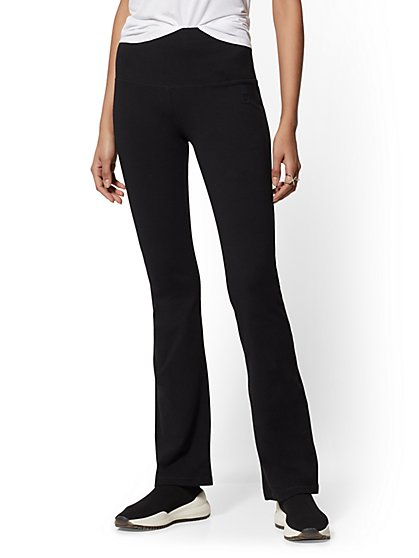 High-Waisted Black Bootcut Yoga Pant - New York & Company