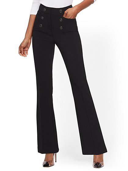 High-Waisted Bootcut Pant - 7th Avenue - New York & Company