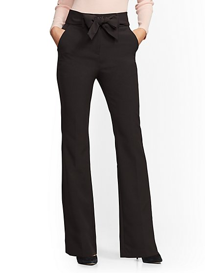 High-Waisted Bootcut Pant - Black - 7th Avenue - New York & Company