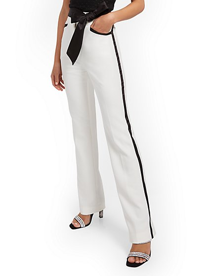 High-Waisted Bootcut Tuxedo Pant - New York & Company
