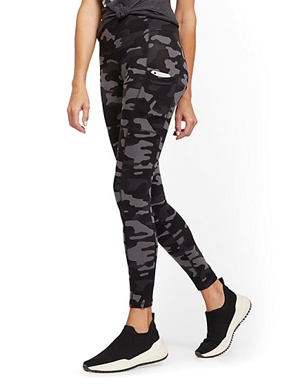 High-Waisted Camo Pocket Legging - New York & Company