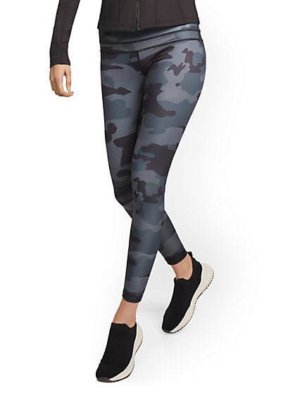 High-Waisted Camo-Print Legging - New York & Company