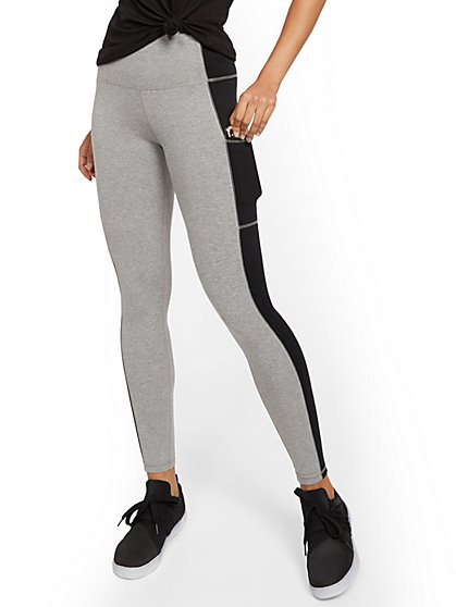 High-Waisted Colorblock Pocket Legging - New York & Company