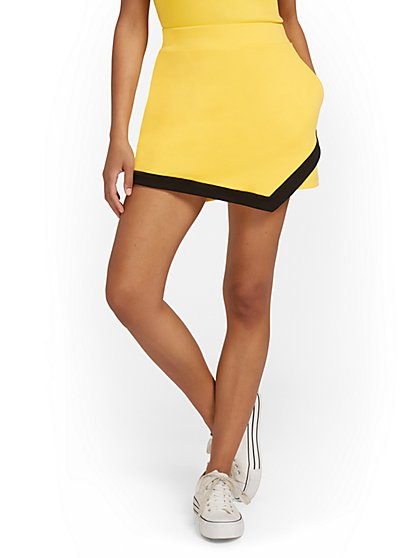 High-Waisted Colorblock Skort - City Knits - New York & Company