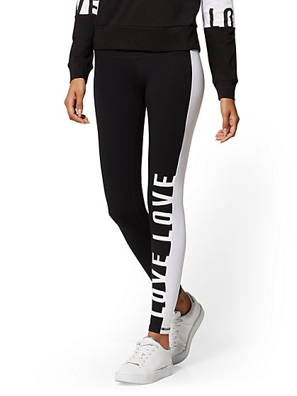 High-Waisted Colorblock Yoga Legging - Soho Street - New York & Company