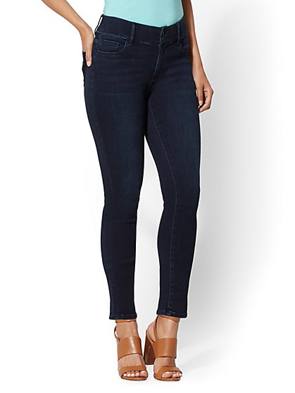 High-Waisted Curvy Super-Skinny Jeans - New York & Company