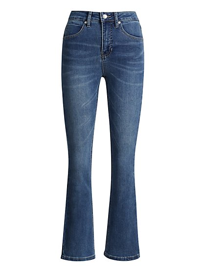 High-Waisted Demi Bootcut Jeans - New York & Company