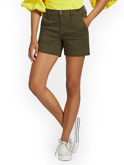 High-Waisted Denim Short - New York & Company