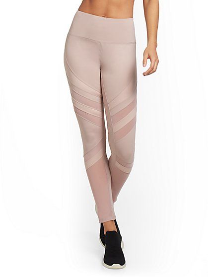 High-Waisted Diagonal Stripe Legging - New York & Company