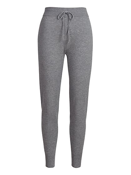 High-Waisted Drawstring Sweater Legging - New York & Company
