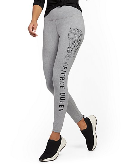 "High-Waisted ""Fierce Queen"" Pocket Legging - Soho Street - New York & Company"