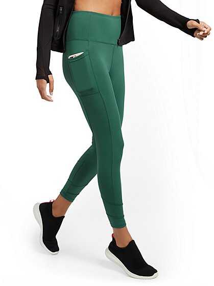 High-Waisted Geometric Seam Legging - New York & Company