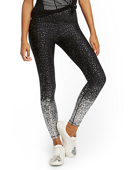 High-Waisted Glittery Pocket Legging - New York & Company