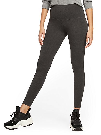 High-Waisted Grey Yoga Legging - New York & Company